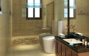 中式风格卫生间瓷砖装饰