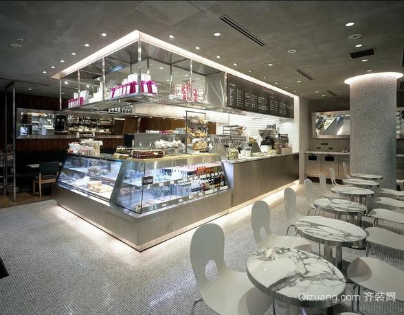 0平米都市简约风格甜品店装修效果图高清图片