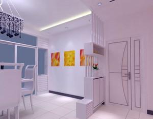 小型单身公寓简约风格客厅鞋柜装修图