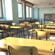 小学教室桌椅装饰