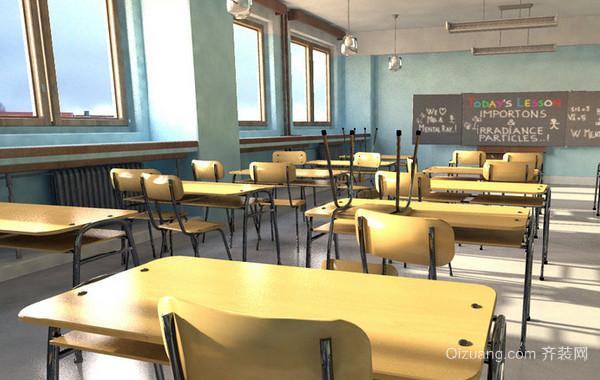 大型现代化简约风格小学教室装修效果图