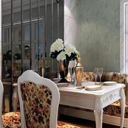 法式餐厅背景墙装饰
