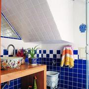 地中海简约卫生间瓷砖装饰