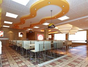 2016年各式各样快餐店装修效果图