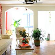 地中海别墅客厅沙发装饰