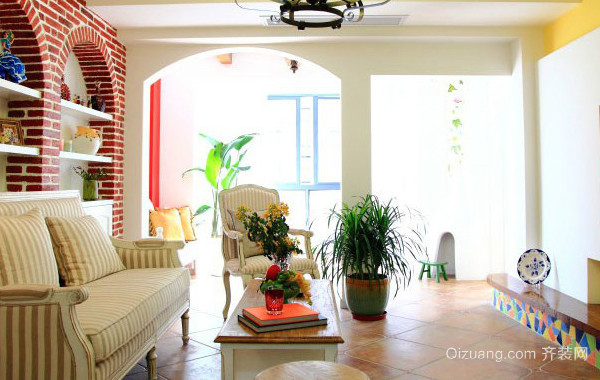 200平米大户型地中海风格别墅客厅装修效果图