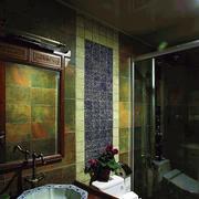 中式风格卫生间背景墙装饰