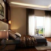 新古典卧室床头背景墙装饰