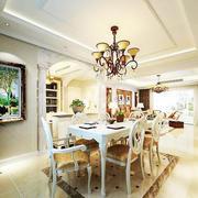 法式餐厅奢华吊顶装饰