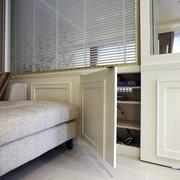 100平米欧式简约风格客厅储物柜装修效果图
