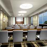 会议室简约窗户装饰图