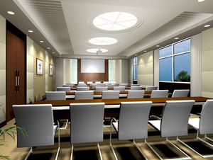 大型现代简约风格办公楼会议室装修效果图