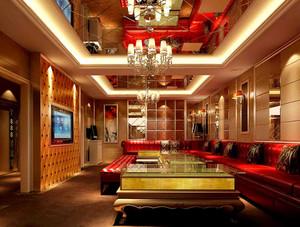 大型KTV装修VIP欧式奢华包厢装修效果图