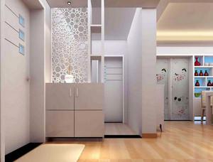 小区居民楼两居室客厅鞋柜隔断装修图