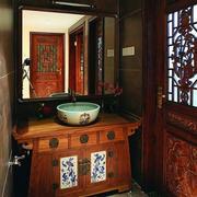 中式风格卫生间浴室柜装饰