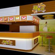 20平米现代简约风格商场甜品店装修效果图