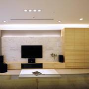 三室一厅简约风格客厅储物柜装修效果图