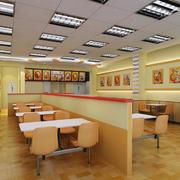 都市现代100平米快餐店铺设计效果图