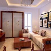 客厅简约风格照片墙装饰