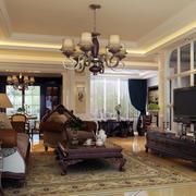 欧式客厅石膏板吊顶装饰