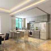 110平米大户型欧式厨房装修设计效果图鉴赏