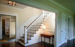 轻快123平米小复式楼阁楼楼梯效果图
