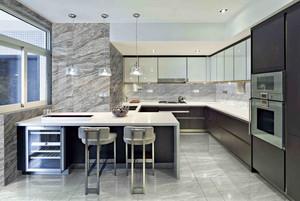 现代大型复式楼开放式厨房东鹏瓷砖贴图