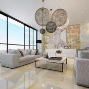 个性简约100平米公寓客厅东鹏瓷砖贴图