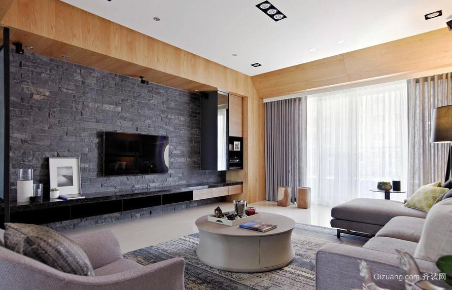后现代157平米大户型客厅电视背景墙图