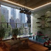 2016唯美精致的欧式别墅型入户花园装修效果图