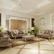 2016大户型欧式室内沙发背景墙装修效果图