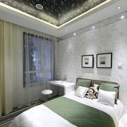 现代简约风格卧室飘窗装饰