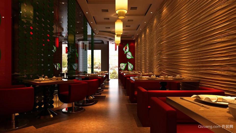 高级精致大型西餐厅店铺设计效果图