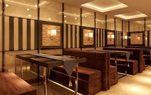 火锅店简约风格桌椅装饰