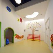 大型简约风格幼儿园主题墙装修效果图