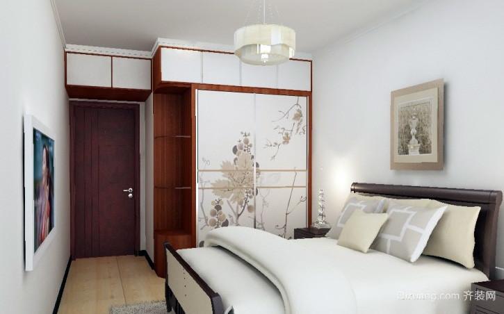 新中式70平米家居卧室大衣柜效果图
