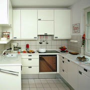 现代简约115平米家居厨房装修设计效果图