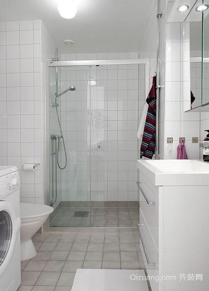 两室一厅现代简约风格卫生间瓷砖装修效果图