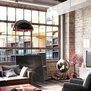 复古客厅电视背景墙装饰