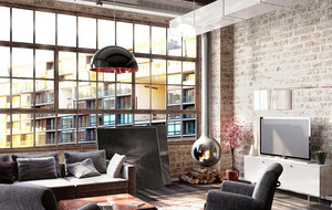 100平米复古简约风格客厅装修效果图