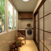 美式简约风格小区阳台装修效果图