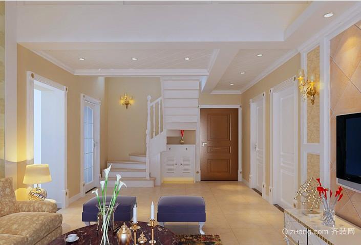 温馨简欧三室一厅小阁楼楼梯装修效果图