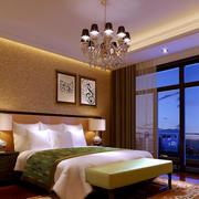 欧式清新风格卧室吊顶装饰