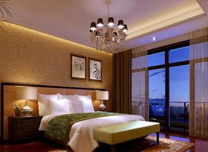 30平米欧式精致奢华卧室吊顶装修效果图