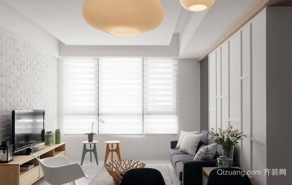 40平米清新小户型客厅装修效果图