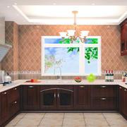 唯美的厨房背景墙整体图