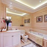 法式风格卫生间浴室柜装饰