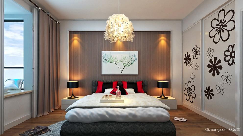 时尚都市18平米卧室大衣柜效果图