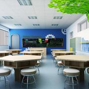 大型教室简约风格吊顶装饰