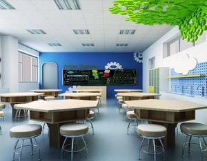 现代简约风格小学宽敞教室装修效果图